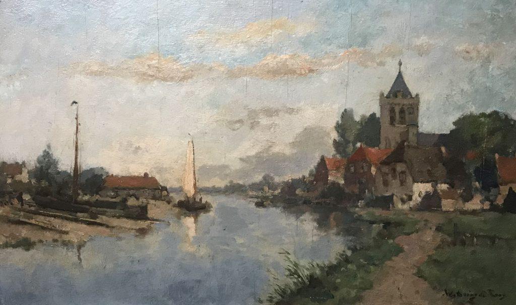 Kunstenaar Johannes Embrosius van de Wetering de Rooy B1468, Johannes Embrosius van de Wetering de Rooy r.o. gesigneerd