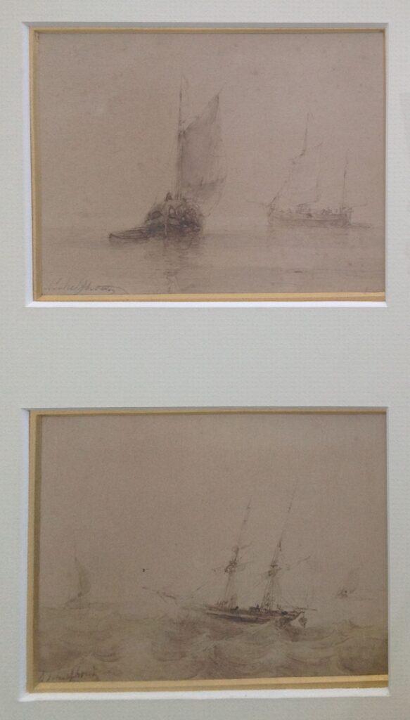 Kunstenaar Andreas Schelfhout B1626, Andreas Schelfhout Twee schetsen