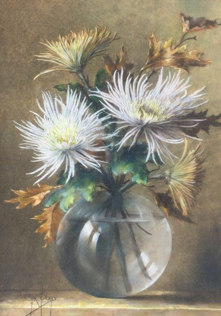 B1924-1, Cyr Bleys, Vaas met bloemen, pastel op papier, 50x34,5