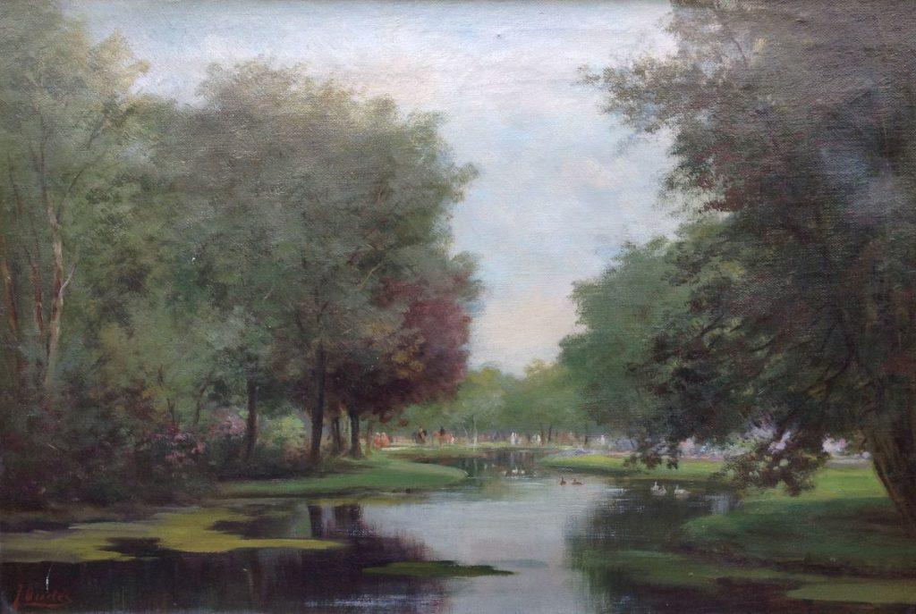 Kunst te koop bij Galerie Wijdemeren van kunstschilder Diedes Amsterdam olie op doek, 40 x 60 cm linksonder gesigneerd