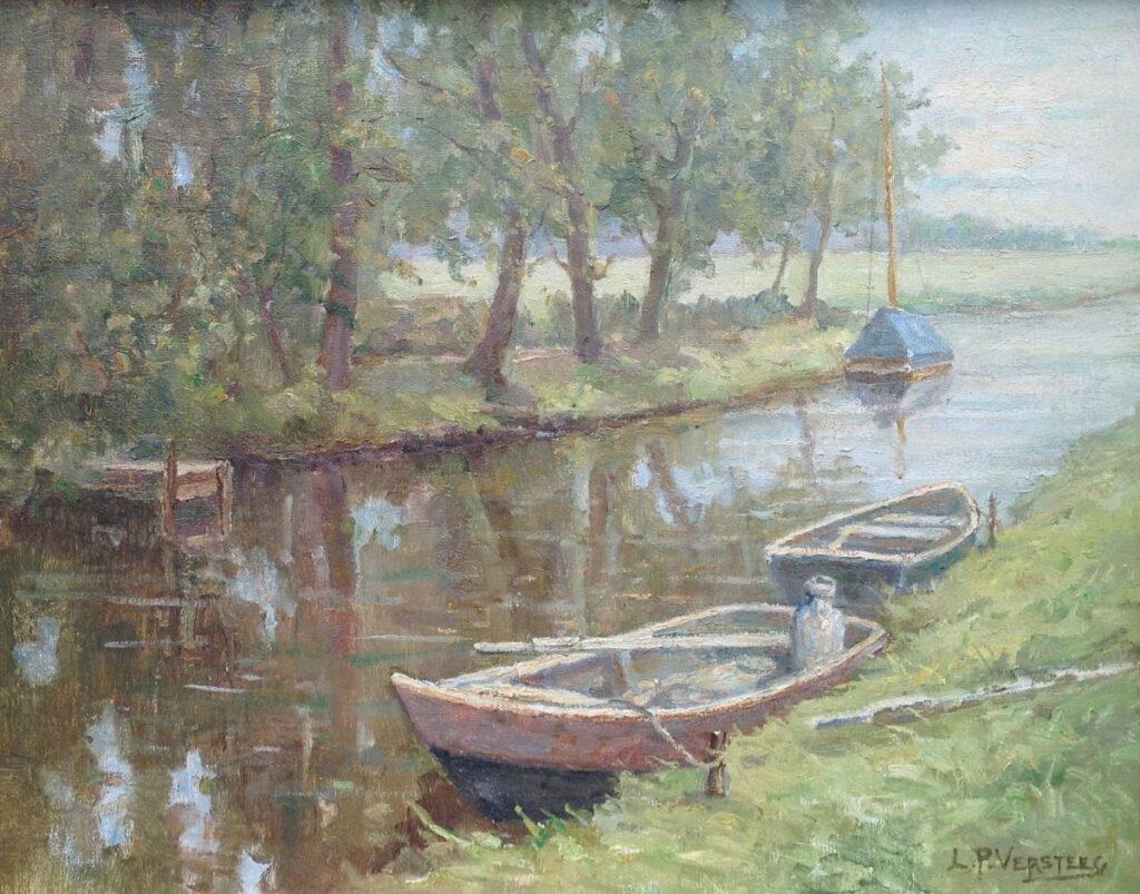 Kunstenaar Leonard Pieter Versteeg B2074, L.P. Versteeg , olieverf op doek 40 x 50 cm, r.o. gesigneerd, gereserveerd