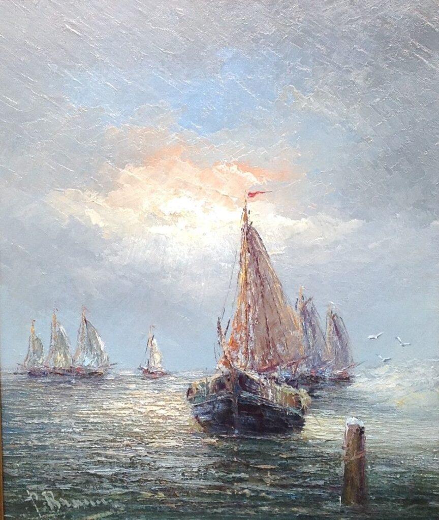 Kunstenaar Peter Brouwer B2224, Peter Brouwer olie op doek 50 x 60 cm verkocht