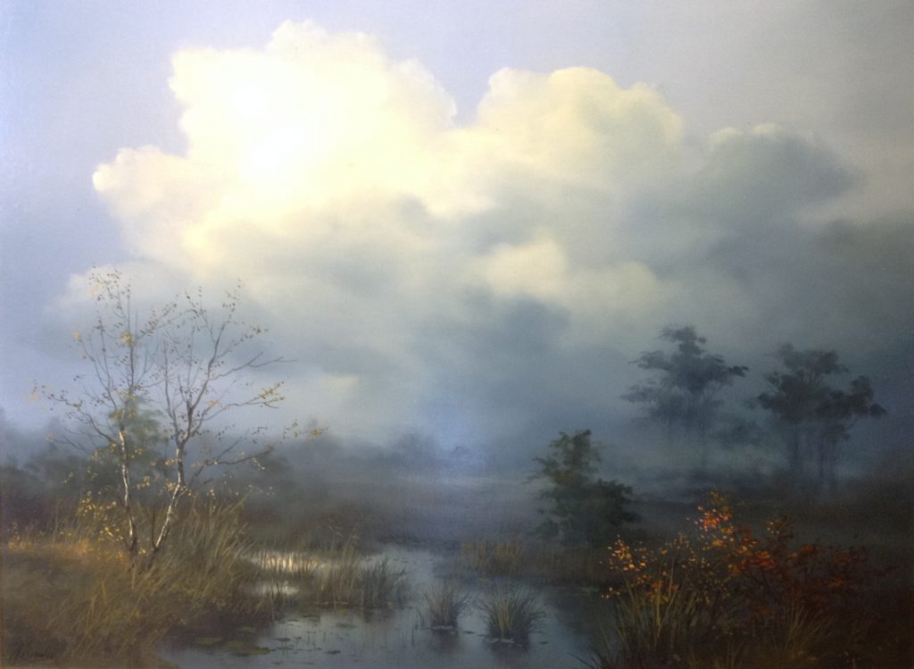 Kunstenaar Joop Smit B2265, Joop Smit Plasgezicht olie op doek, 60 x 80 cm, rechts onder gesigneerd