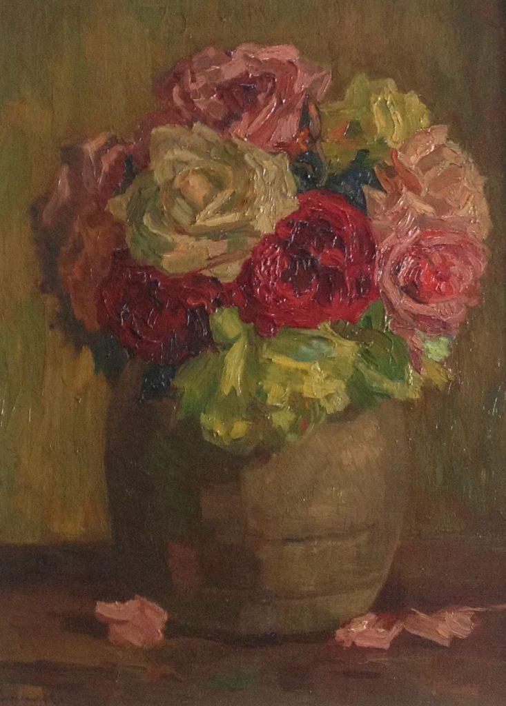 Kunstenaar Anton Smeerdijk B2513 Anton Smeerdijk, bloem, maroufle