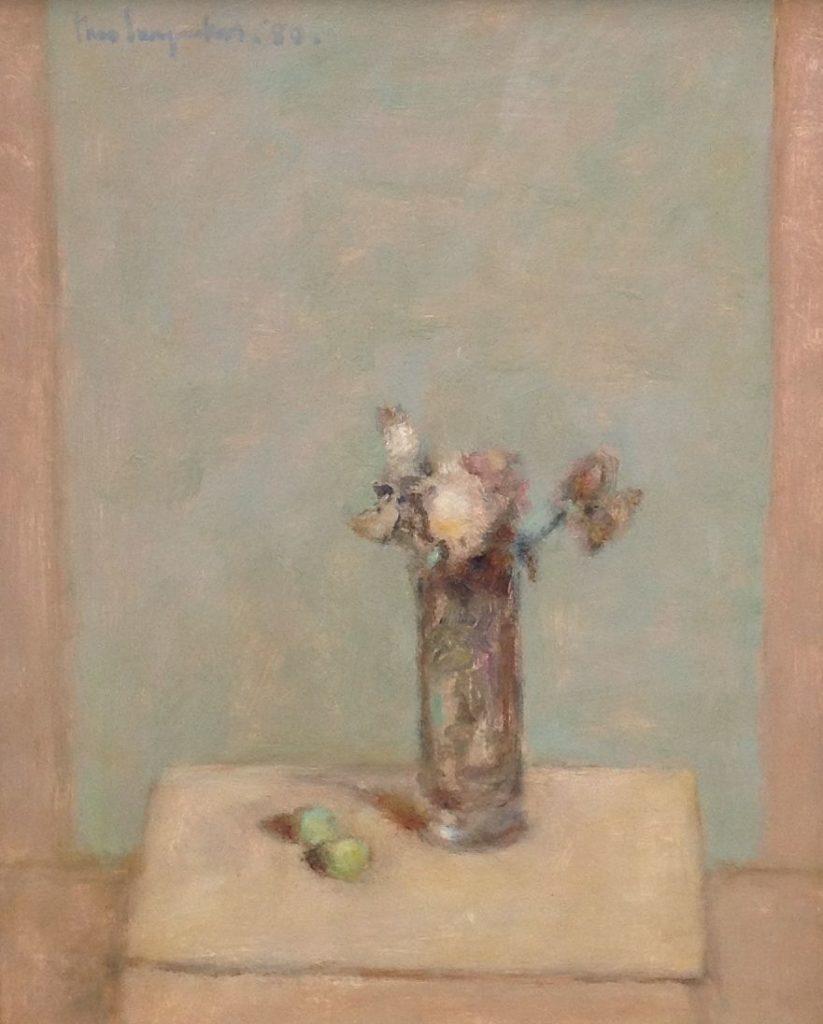 Schilderijen te koop van kunstschilder Theo Swagemakers Stilleven met rozen olie op paneel, 45 x 55 cm linksboven gesigneerd en gedateerd 1980, Expositie Galerie Wijdemeren Breukeleveen