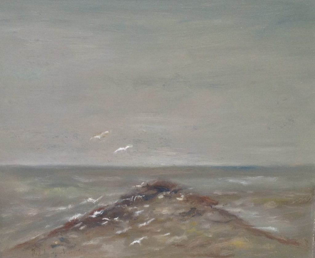 Schilderijen te koop van kunstschilder Theo Swagemakers Corsica olie op doek, 60 x 50 cm linksonder gesigneerd en gedateerd 1986, Expositie Galerie Wijdemeren Breukeleveen