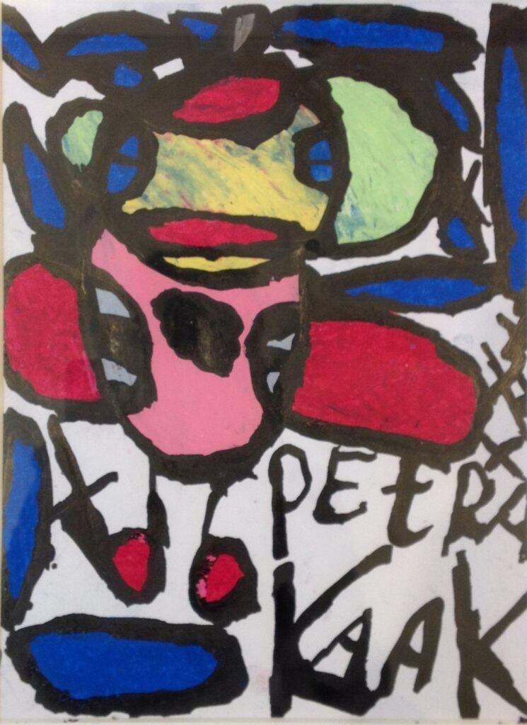 Kunstenaar Petra Kaak B2750-1, Petra Kaak 'rode lippen', 31 x 23 cm