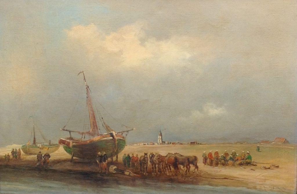 Kunstenaar Juriaen Marinus van Beek B2783-8,Juriaen Marinus van Beek Olie op doek, 40 x 60 cm r.o. gesigneerd verkocht