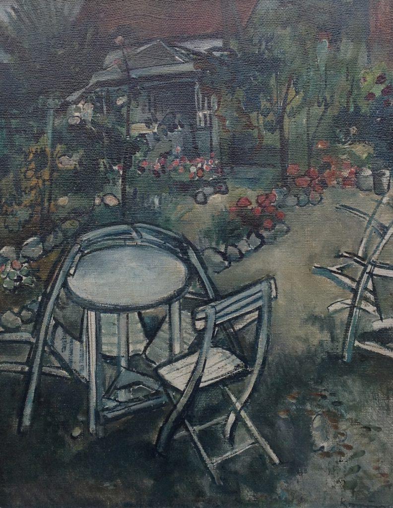 Kunstenaar Paul Kromjong B2792, Paul Kromjong Olie op doek,60,5 x 48,5 cm, Rechtsonder gesigneerd