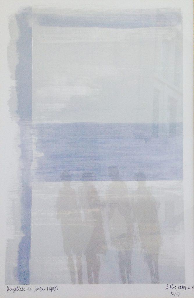 Kunstenaar Angeliek de Jonge B321, Angeliek de Jonge Litho 12/14, 57 x 36,5 cm l.o. gesigneerd en gedateerd
