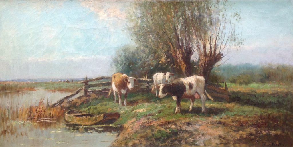 Kunstenaar Pieter Bouter B41 Piet Bouter olie op doek, 40 x 80 cm particuliere collectie