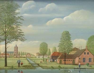 Kunstenaar Jaap ter Haar B441, Jaap ter Haar olie op doek, 40 x 50 cm r.o. gesigneerd verkocht