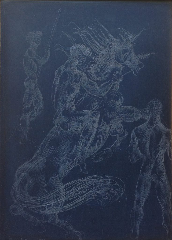 Kunstenaar Rene Bolliger B455-2, René Bolliger Verkocht