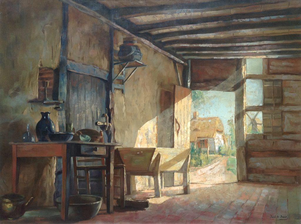 Kunstenaar Karel de Bauw B495 Karel de Bauw Stalinterieur 80 x 60 cm Verkocht