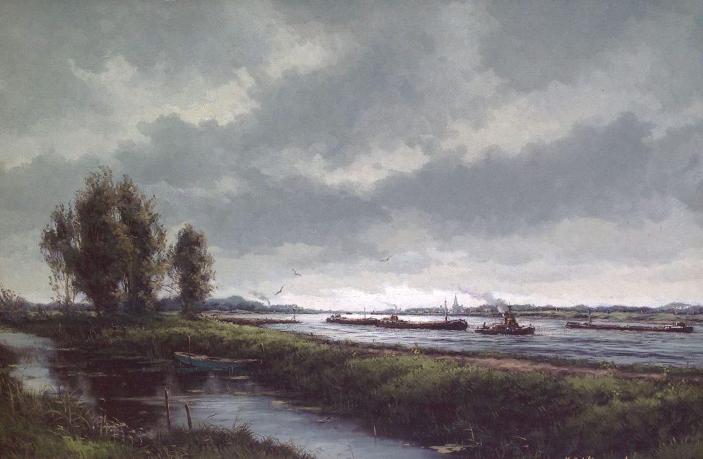 Schilderijen te koop van kunstschilder HJ Wijngaard olie op doek, doekmaat 60 x 90 cm gesigneerd, Expositie Galerie Wijdemeren Breukeleveen
