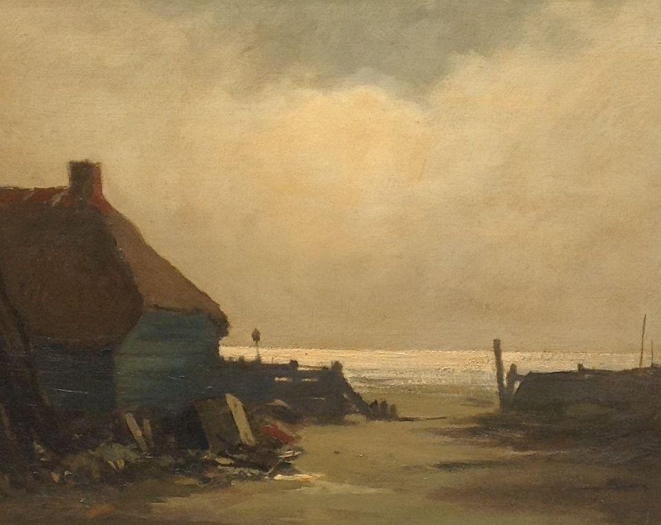 Kunstenaar Jaap Sax 30 x 40, olie op paneel gereserveerd