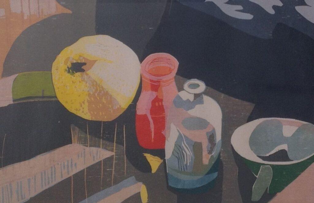 Kunstenaar Vincent van Ojen B782, Vincent van Ojen grafiek, beeldmaat 44,5 x 64,5 cm gedateerd 1993, oplage 15/20 cm