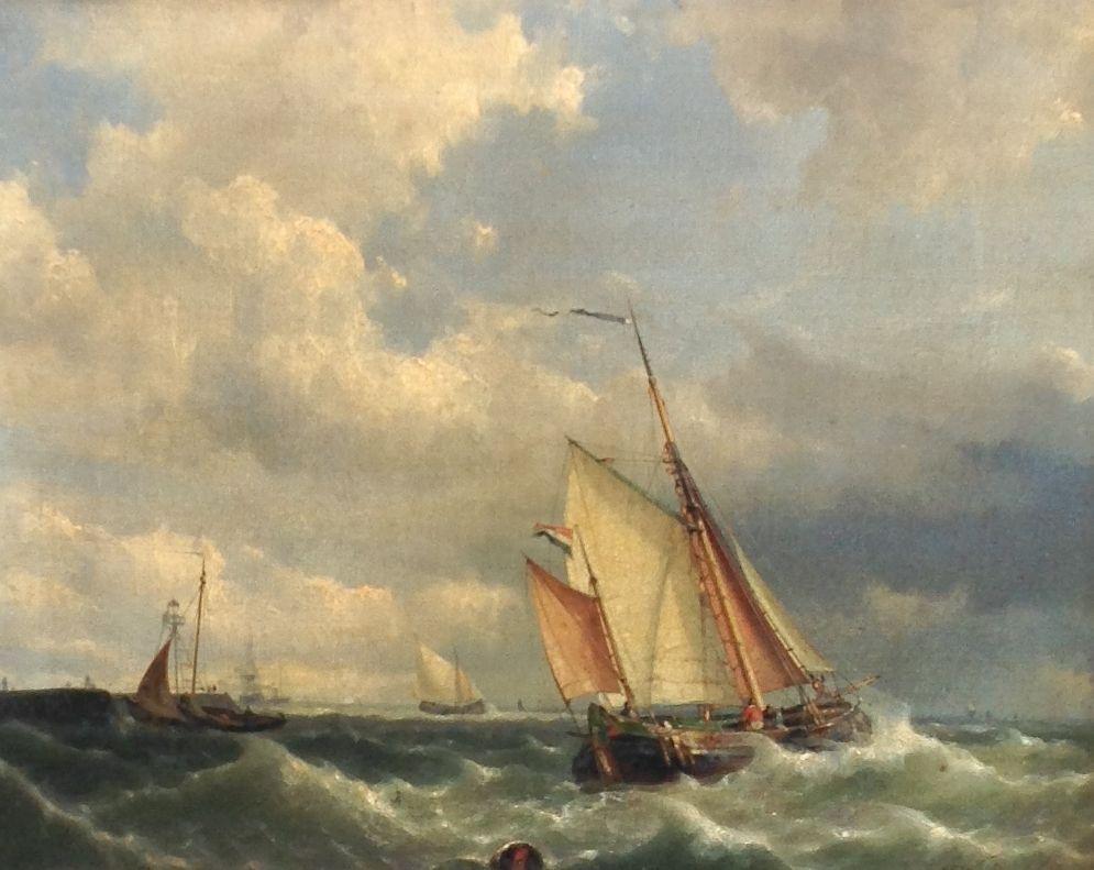 Kunstenaar Hermanus Koekkoek jr. B8032, Hermanus Koekkoek Jr. Olie op doek, Beeldmaat: 38 x 49 cm. Rechtsonder gesigneerd en gedateerd 1859