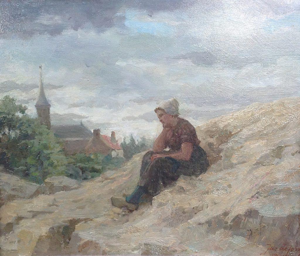 Kunstenaar Johannes de Jong B80A, Johannes de Jong