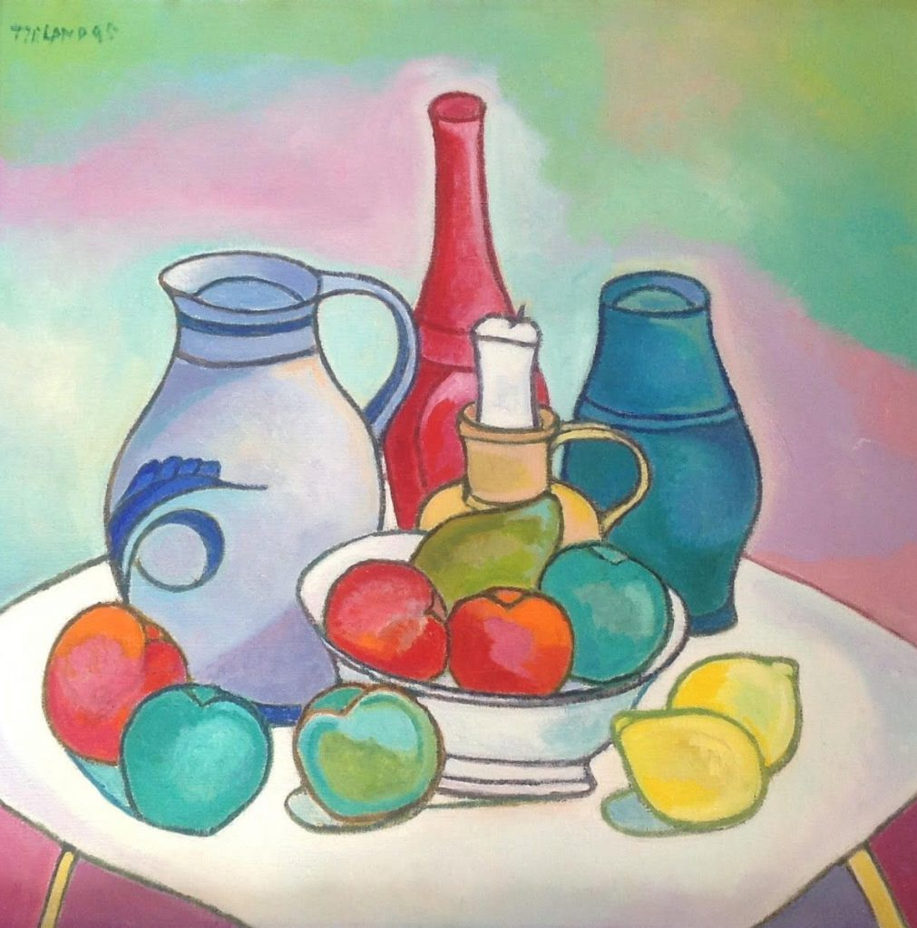 Kunstenaar Toon Tieland B8132, Toon Tieland 60 x 60 cm