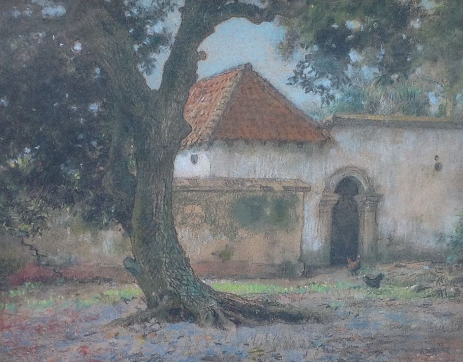 Kunstenaar Arthur Henri Christiaan Briët B8160, A.H.C. Briët, pastel, beeldmaat: 26 x 33 cm. r.o. gesigneerd verkocht