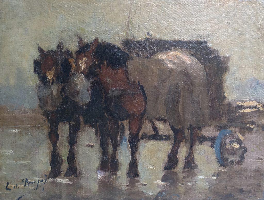 Kunstenaar Chris de Bruijn jr. B8309, Chris de Bruijn jr. olie op doek, 18 x 24 cm l.o. gesigneerd
