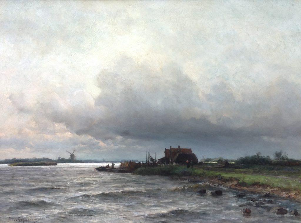 Kunstenaar P.A. Schipperus B8455, P.A. Schipperus Olie op doek, beeldmaat: 61 cm x 81 cm Linksonder gesigneerd Verkocht
