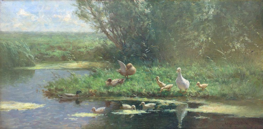 Schilderijen te koop van kunstschilder Constant Artz olie op doek, gesigneerd, Expositie Galerie Wijdemeren Breukeleveen