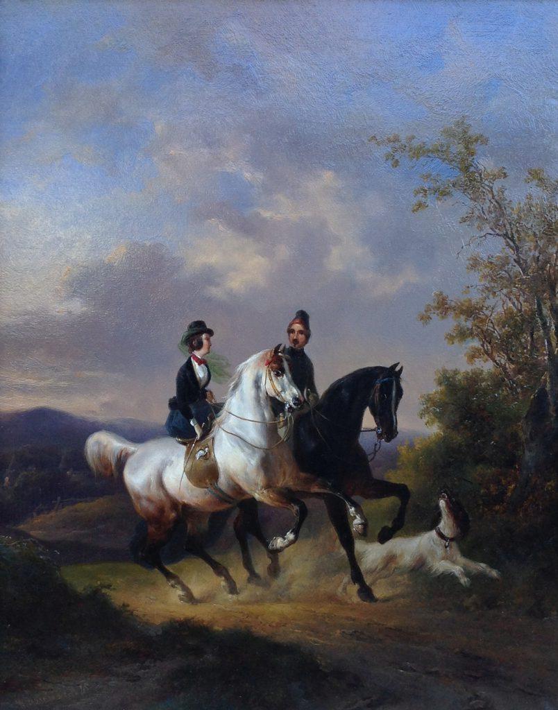Schilderijen te koop, kunstschilder Wouterus Verschuur olie op paneel, paneelmaat 35 x 28 cm linksonder gesigneerd en gedateerd '45, expositie Galerie Wijdemeren Breukeleveen
