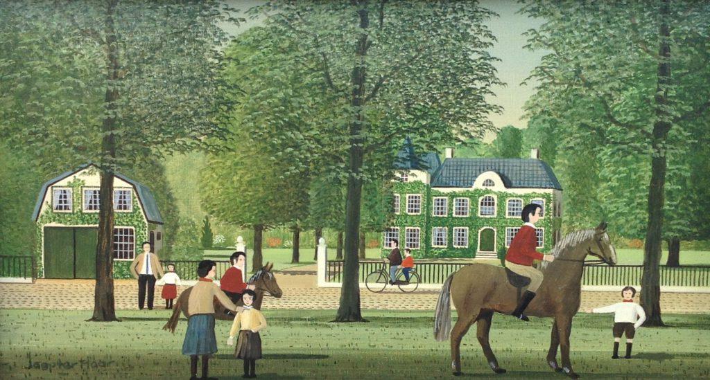 Schilderijen te koop van kunstschilder Jaap ter Haar Ruiters olie op doek, 25 x 45 cm r.o. gesigneerd, Expositie Galerie Wijdemeren Breukeleveen