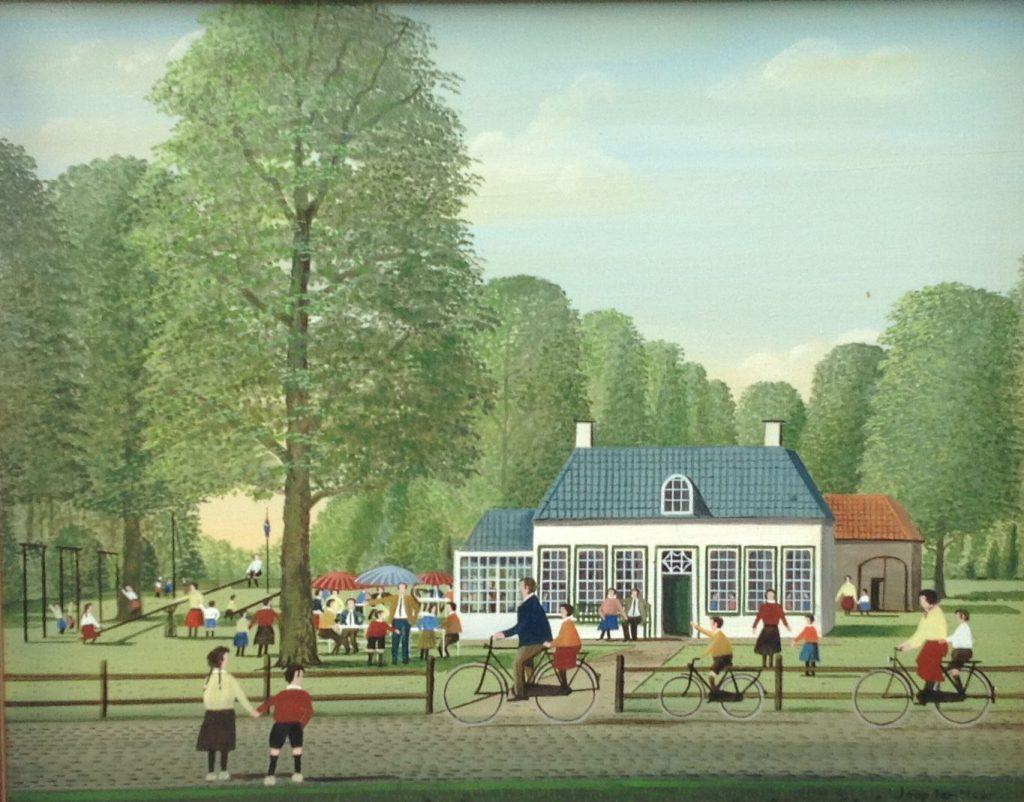 Schilderijen te koop van kunstschilder Jaap ter Haar Koetshuis olie op doek 40 x 50 cm r.o. gesigneerd, Expositie Galerie Wijdemeren Breukeleveen