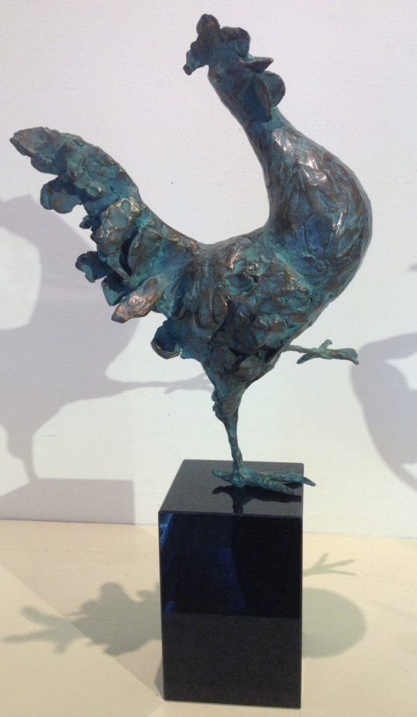 C4718 Marjolijn Dijkhuis Haan Brons, ca. 32cm hoog, kunst te koop bij galerie wijdemeren breukeleveen, exposities