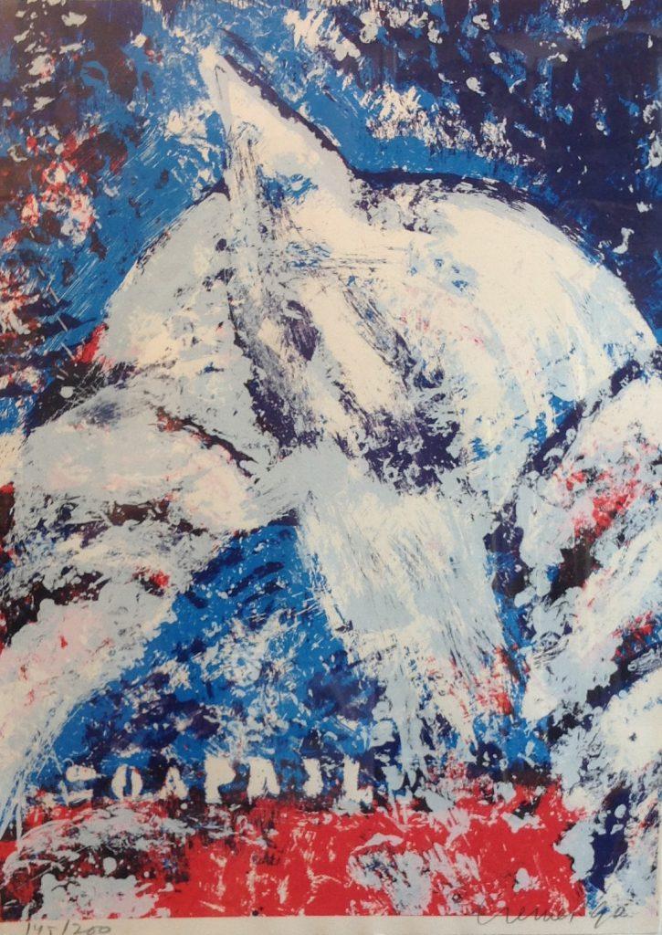 Kunstenaar Jan Cremer B8667, Jan Cremer Beeldmaat : 78 cm x 56 cm Verkocht