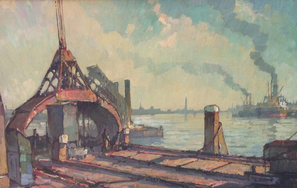 schilderijen te koop van kunstschilder, Gerard Wiegman olie op doek, 40 x 60 cm. rechtsonder gesigneerd, expositie, galerie wijdemeren breukeleveen