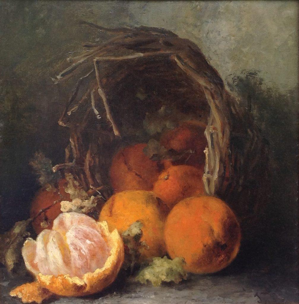 Schilderijen te koop van kunstschilder Johanna van de Kasteele Stilleven met sinaasappels olie op doek, 48 x 47 cm r.o. gesigneerd, Expositie Galerie Wijdemeren Breukeleveen