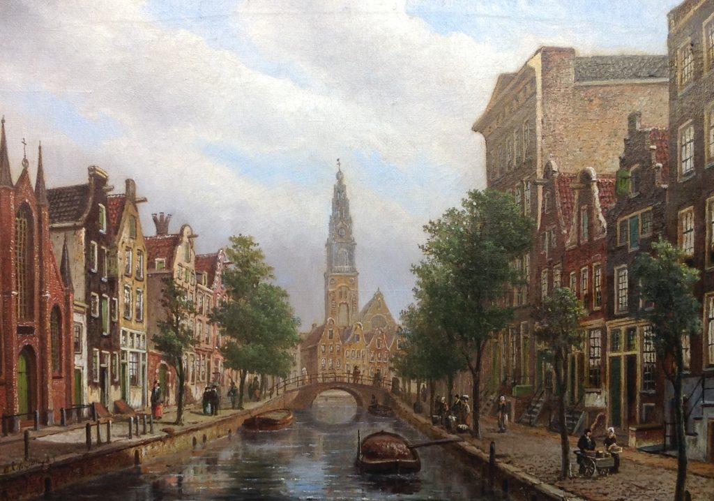 Kunstenaar Oene Romkes de Jongh B9059, O.R. de Jongh Amsterdam olie op doek, 55 x 78 cm l.o. gesigneerd verkocht