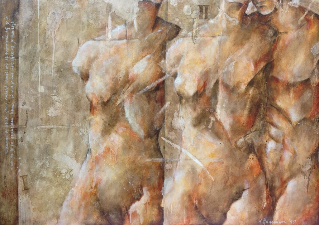 Kunstenaar Anita Hageman B9113, Anita Hageman acryl op doek, 100 x 140 cm r.o. gesigneerd