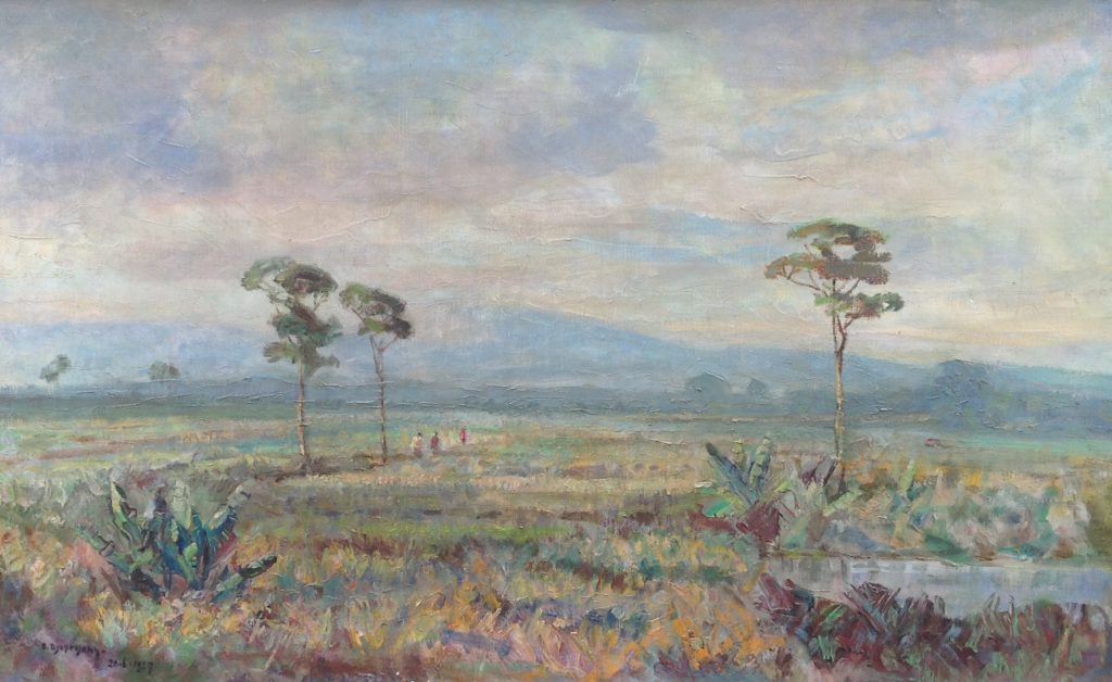 Kunstenaar S. Djupriany nr. B9267, S. Djuprijany  'Landschap', olie op doek  l.o. gesigneerd