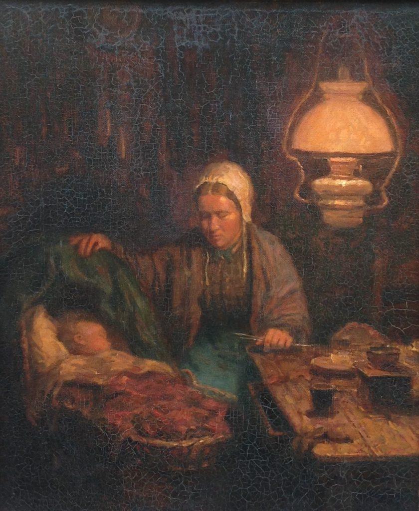 Kunstenaar Willem van Nieuwenhoven B9380, Willem van Nieuwenhoven olie op paneel