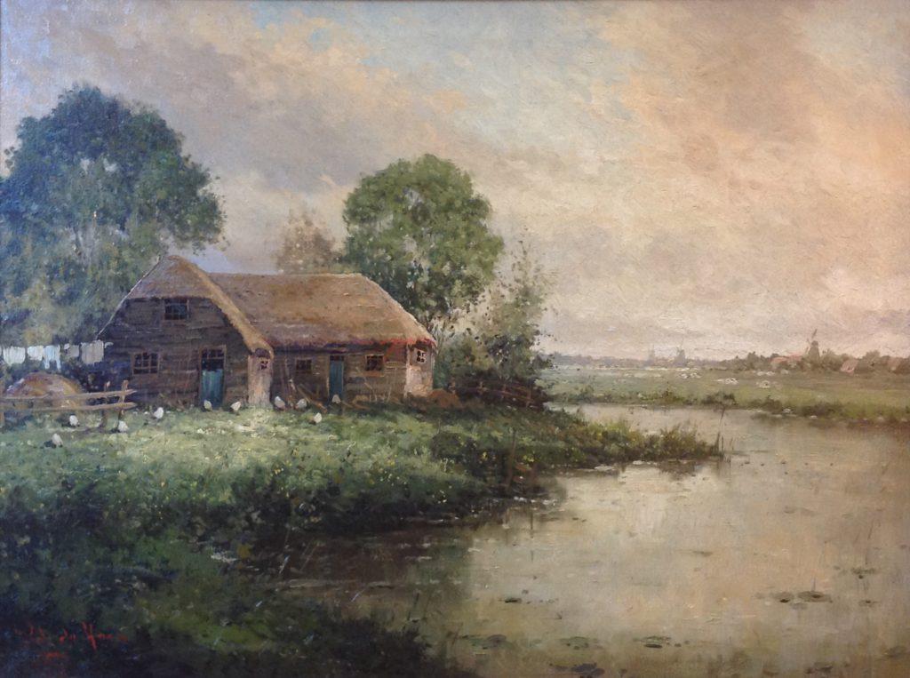 Kunstenaar Rob de Haan B9706 Rob de Haan Boerderij aan boerenvaart verkocht