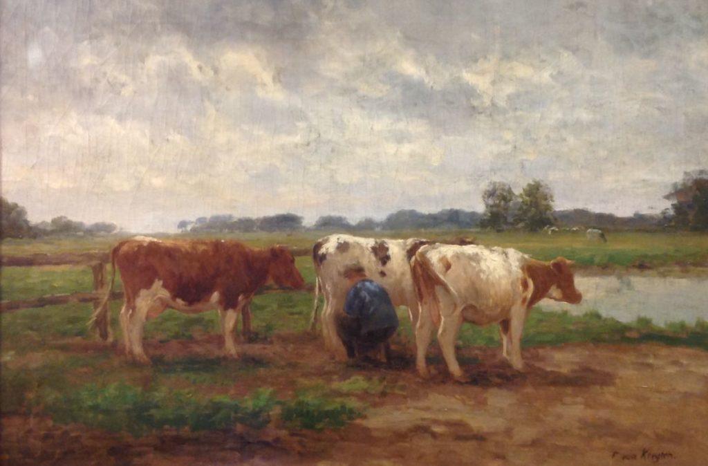 Kunstenaar Fedor van Kregten B9791, Fedor van Kregten olie op doek, 60,5 x 88 cm r.o. gesigneerd verkocht