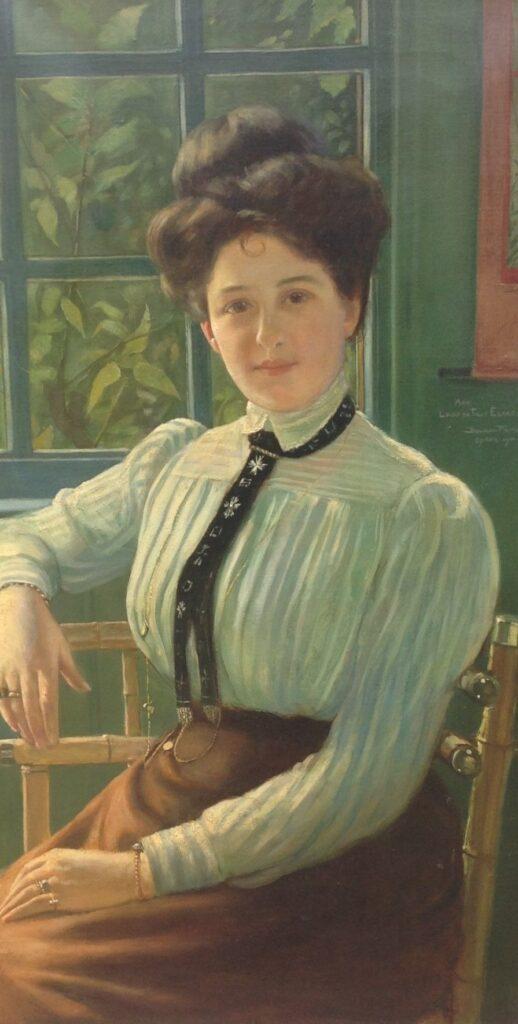 Kunstenaar Benjamin Prins B9966, Benjamin Prins Portret van een Dame olie op doek, 95 x 50,5 cm, r.m en verso gesigneerd en gedateerd 1901