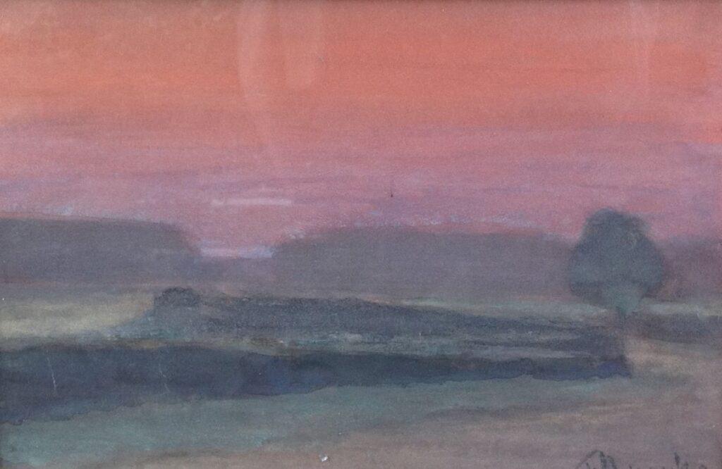 Kunstenaar Frits Mondriaan C101, Frits Mondriaan Ochtendstond Pastel r.o. gesigneerd en gedateerd '32