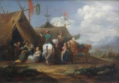 Kunstenaar Barent Gael C102, Barent Gael olie op paneel, 18 x 24,5 cm linksmidden gesigneerd particuliere collectie