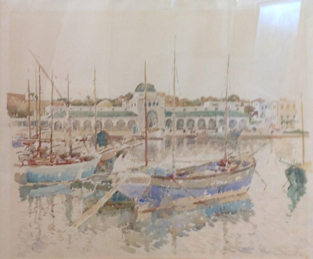 Kunstenaar Cornelis Vreedenburgh C1235 Cornelis Vreedenburgh, Woerden 1880-1946 Laren, Havengezicht, Venetië aquarel, gedateerd 1935, 43,5 x 53,5 cm