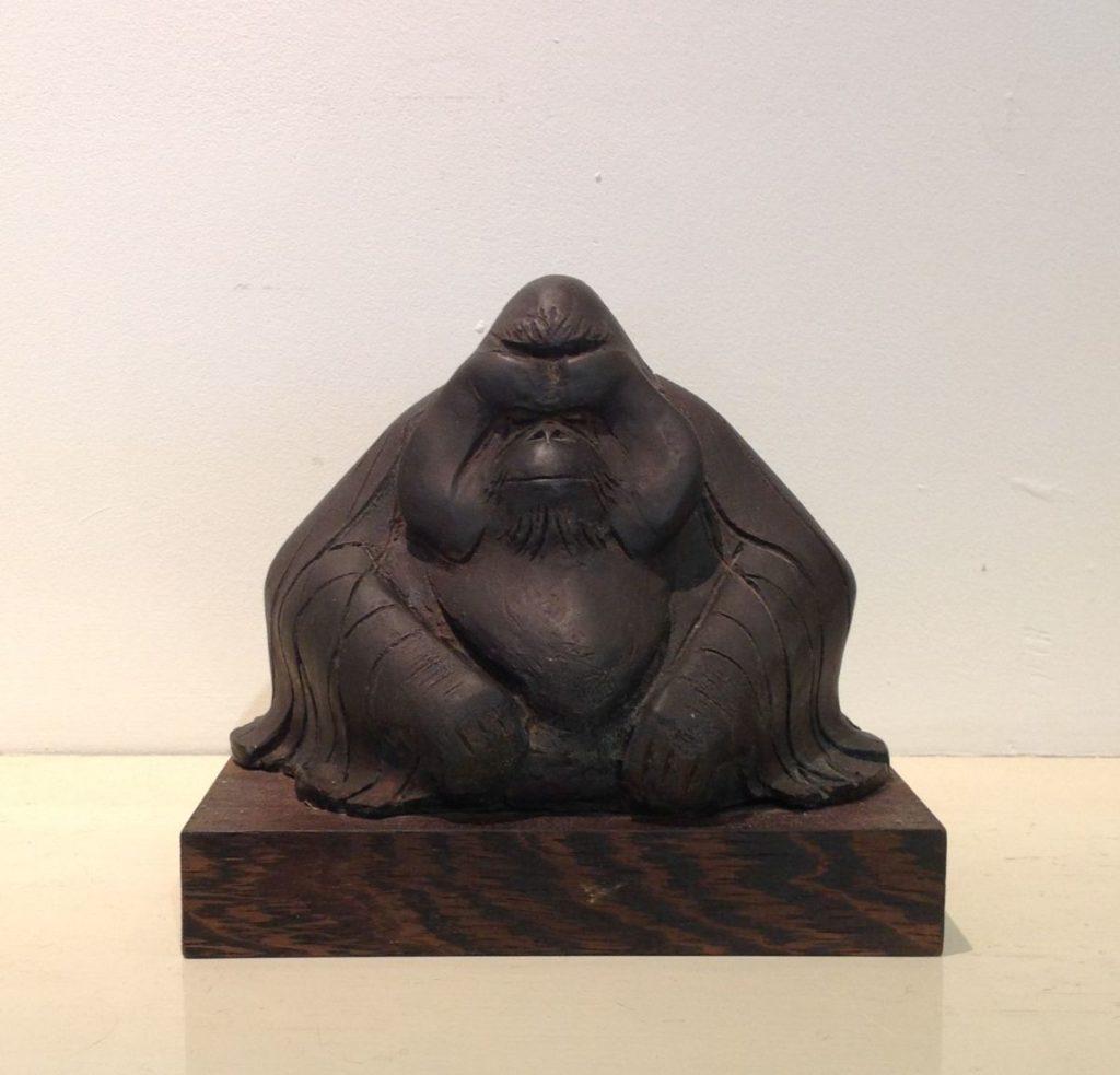 Beelden, Sculpturen, Brons te koop van kunstschilder Hetty Heyster Ori Brons, ca 15 cm hoog oplage 10 van 50, Expositie Galerie Wijdemeren Breukeleveen