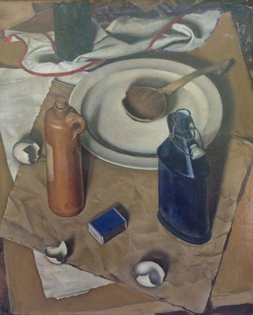 Schilderijen te koop van kunstschilder Johan Ponsioen Stilleven olie op board, boardmaat 60 x 50 cm, Expositie Galerie Wijdemeren Breukeleveen