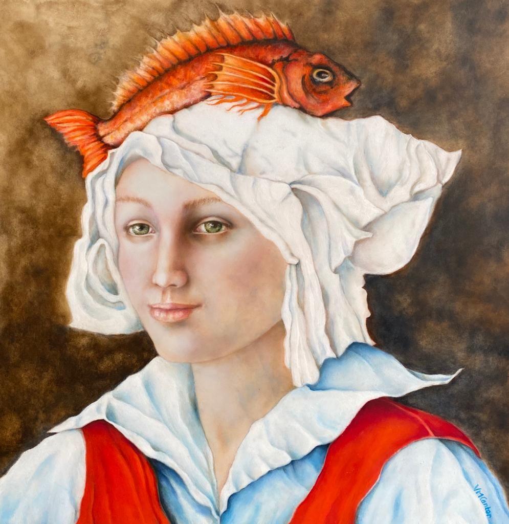 Schilderijen te koop van kunstschilder Valentina Cantor Fishermans Friend, Expositie Galerie Wijdemeren Breukeleveen