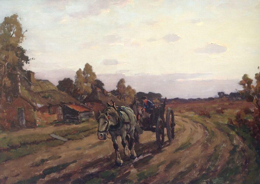 Kunstenaar Arnout van Gilst C1550, Arnout van Gilst Boerenkar verkocht