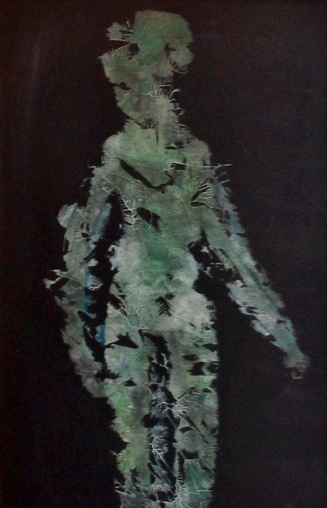 Kunstenaar Etienne Hublau C1932-21 Etienne Hublau olie op karton, 78 x 51 cm info verso